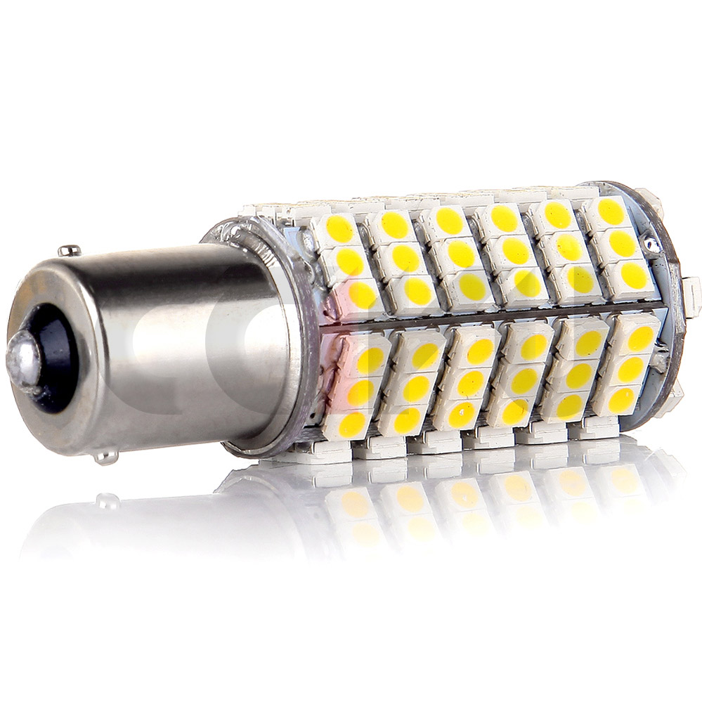 2x warm white 1156 ba15s rv trailer interior 12v led lights bulbs 120 smd 5050 ebay. Black Bedroom Furniture Sets. Home Design Ideas